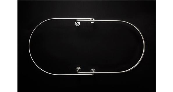 barre pour rideau de douche ou pour rideau de baignoire ovale fixation plafond grs guest. Black Bedroom Furniture Sets. Home Design Ideas