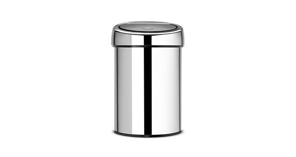 poubelle-salle-de-bain-3L-inox-brilliant-touch-bin
