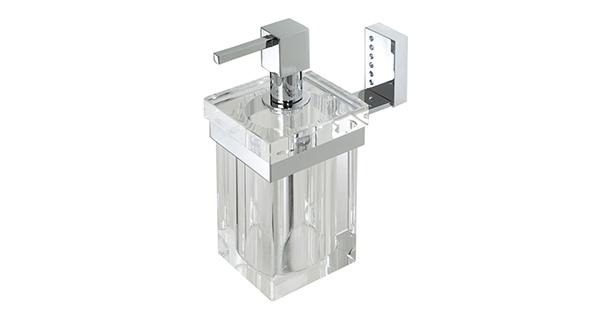 distributeur-savon-liquide-laiton-chrome-verre-transparent-mural-4703
